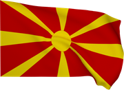 Flag Of Macedonia In Wind